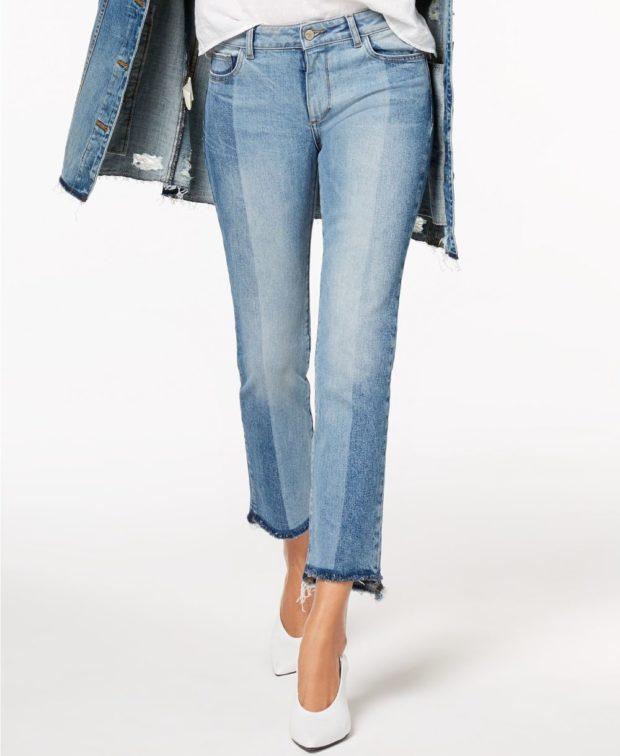 модные джинсы 2018-2019 бананы