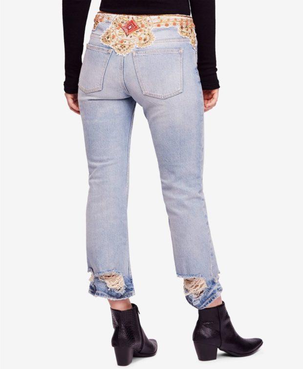джинсы бананы: с нашивкой