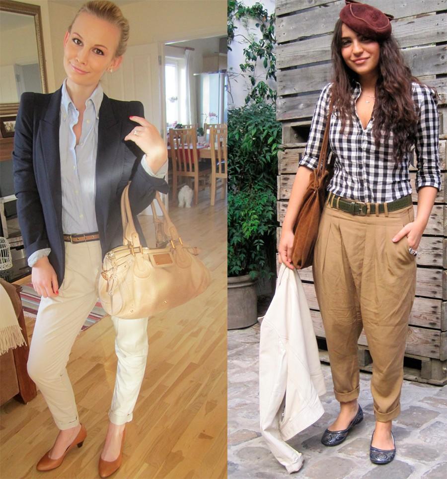 брюки чиносы светлые с чем носят