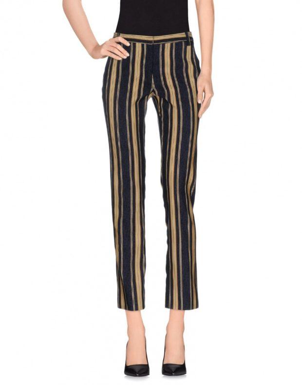 брюки чиносы в полоску с чем носить