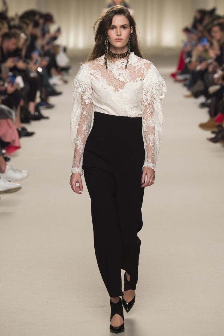 брюки высокая талия черные под блузку кружевную