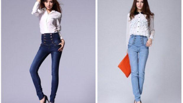 с чем носить брюки с завышенной талией под блузку