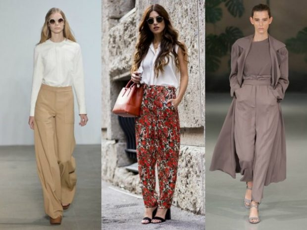 с чем носить брюки с завышенной талией: бежевые