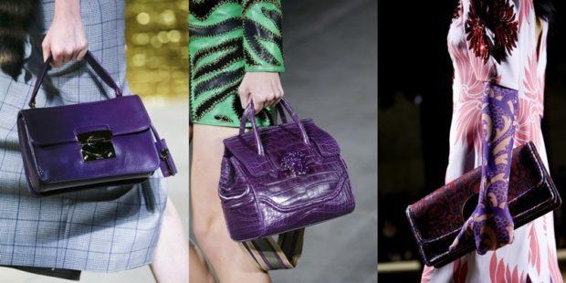 сумки фиолетовые ручные под серое зеленое цветное