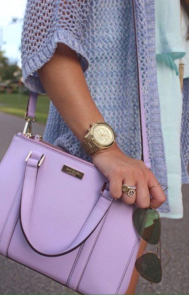 светло-фиолетовая сумка под серое