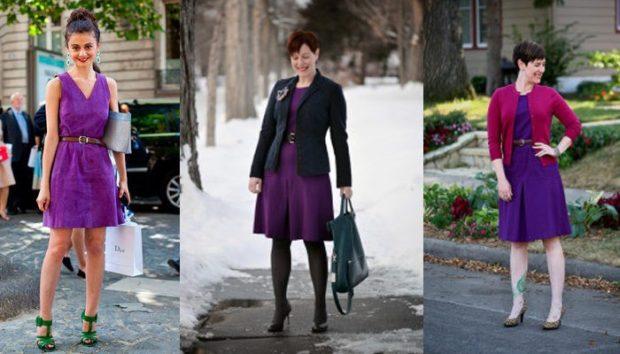 фиолетовое платье под зеленые босоножки платье под пиджак черный под малиновый