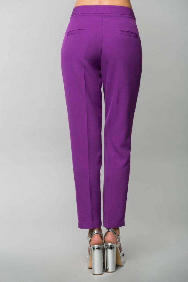 брюки фиолетовые под каблуки серебро