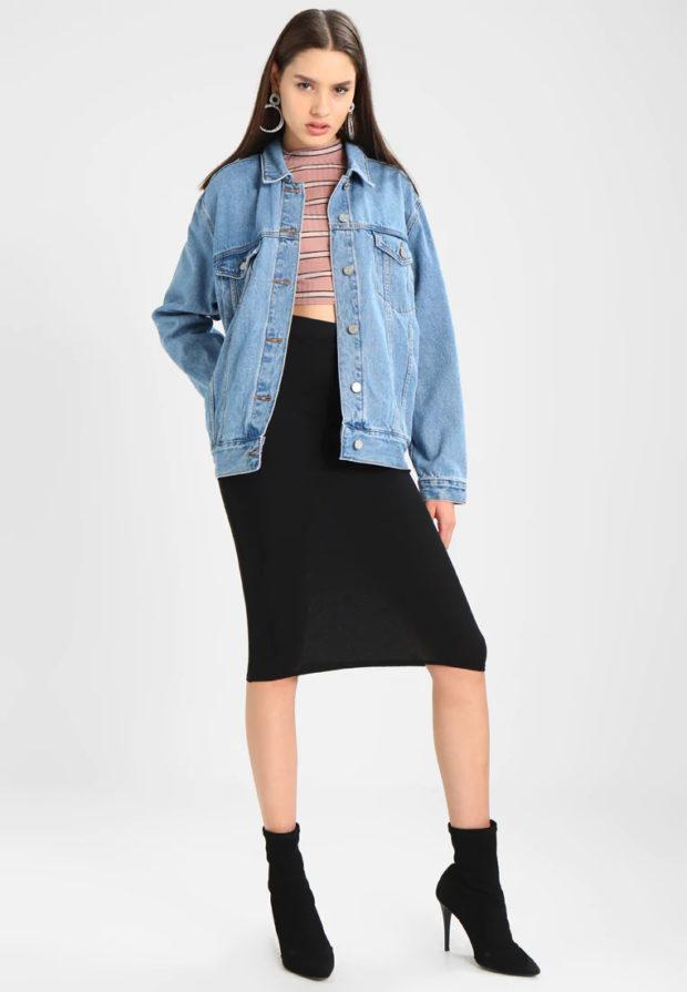 джинсовый кардиган