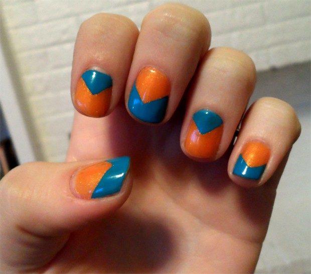 шеврон синий с оранжевым