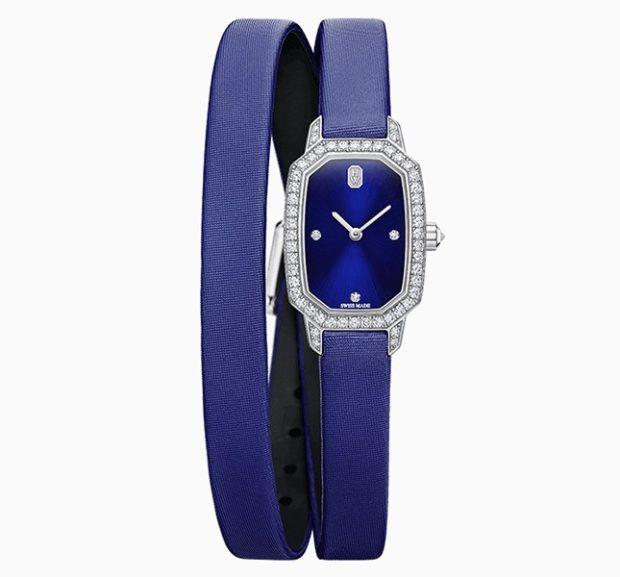 модные женские часы: миниатюрные фиолетовые ремень длинный
