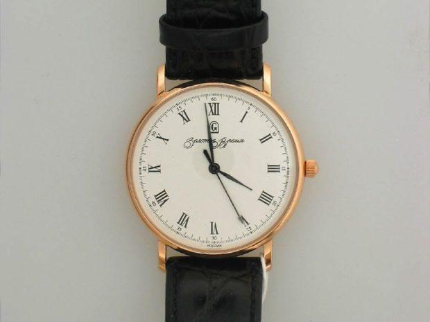 Классические женские часы черный ремешок цифры римские
