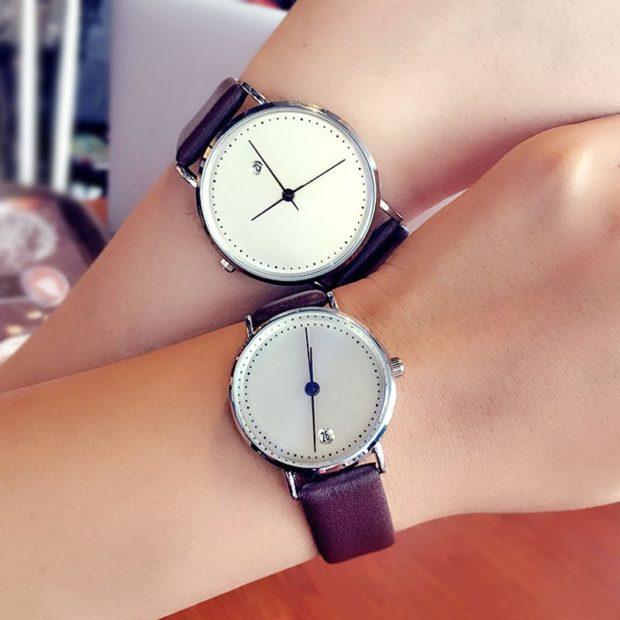 Классические женские часы без цифр