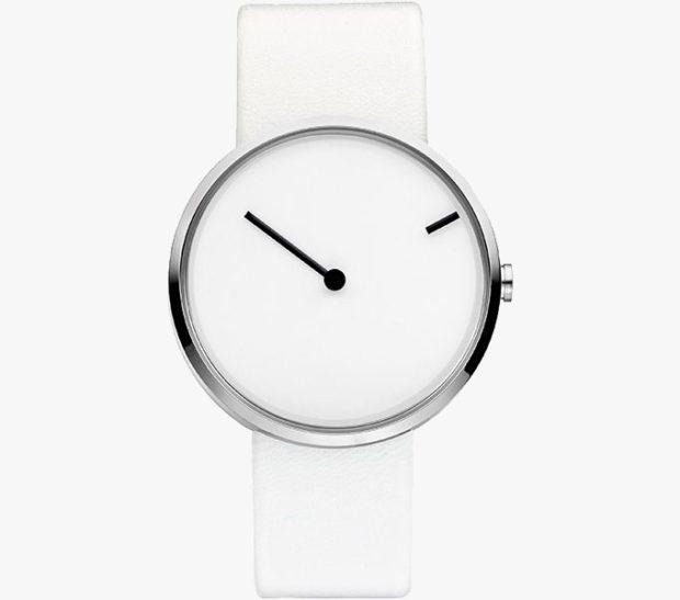 модные женские часы: минимализм белые без цифр