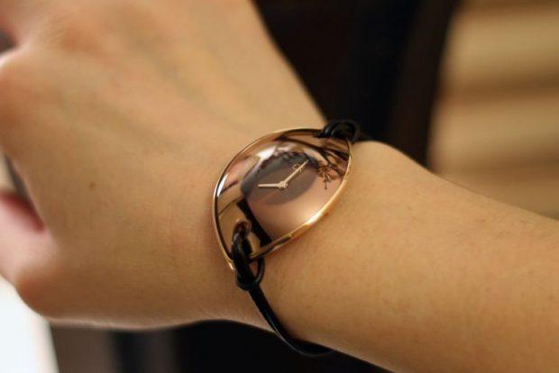 часы женские минимализм овальные стеклянные