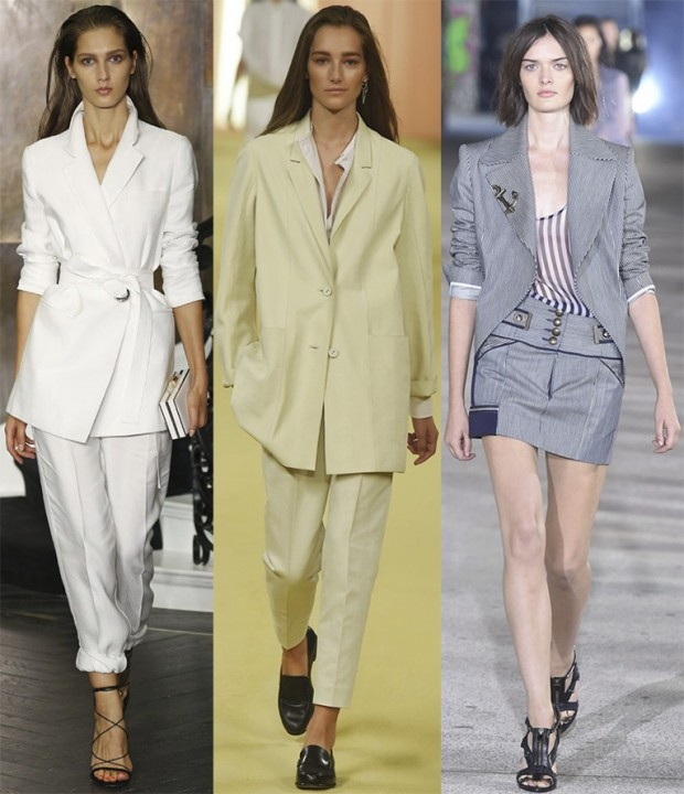 брюки короткие пиджак белый нежно салатовый юбка кроткая серая пиджак в тон