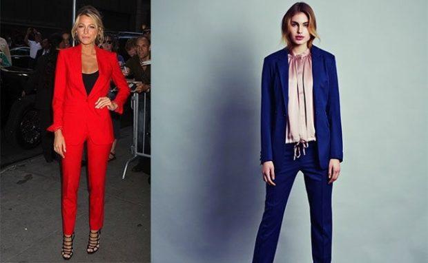 костюм красный синий брюки пиджак