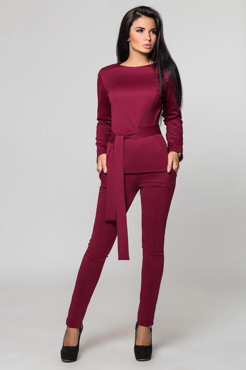 костюм бордо брюки кофту в тон