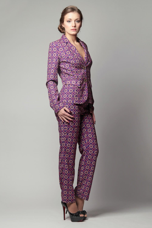 костюм на вечер бордо в принт пиджак брюки