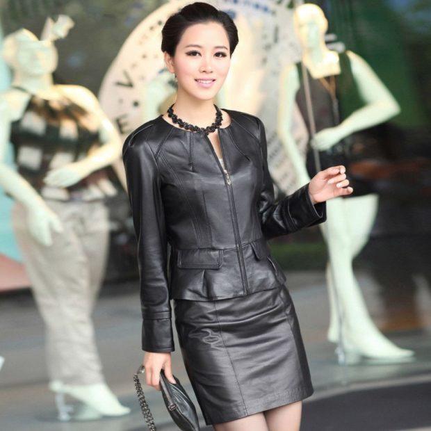 пиджак юбка темное серебро