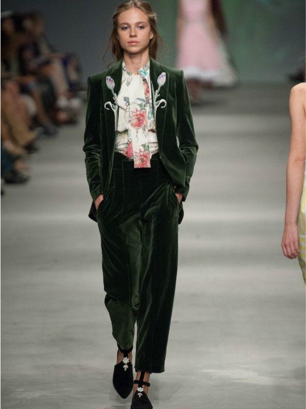 костюм бархатный пиджак брюки зеленый