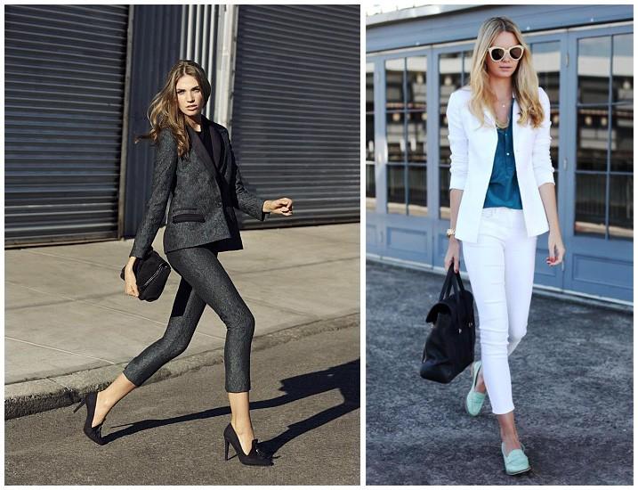 костюм брюки короткие пиджак серый белый