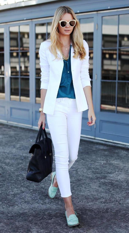 костюм брюки короткие пиджак белый