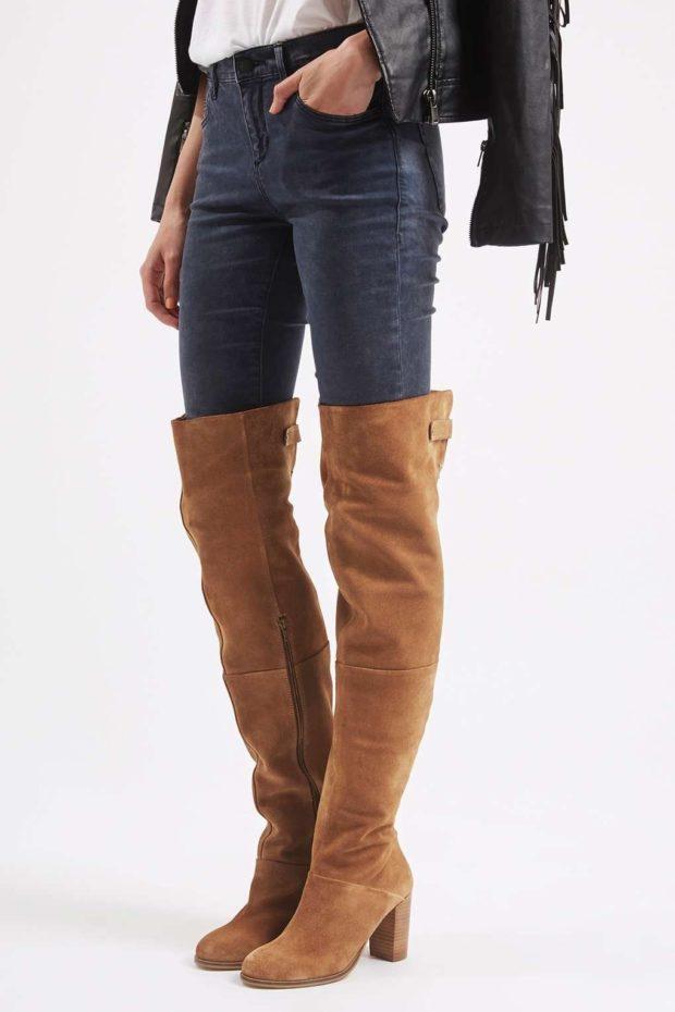 можно ли носить ботфорты с джинсами