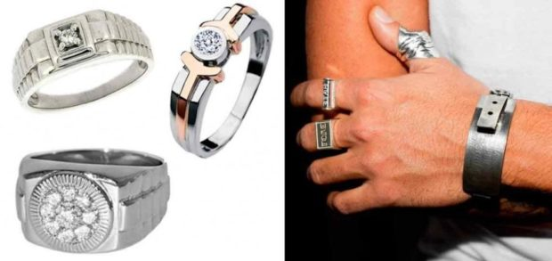 на каком пальце носят перстень мужчины: кольца серебренные с камнями