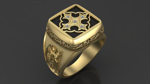 на какой руке носят перстень мужчины: золотой с узорами