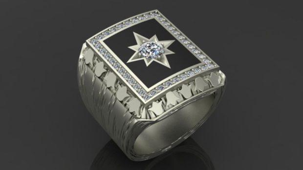 на каком пальце носят перстень мужчины: серебро со звездой