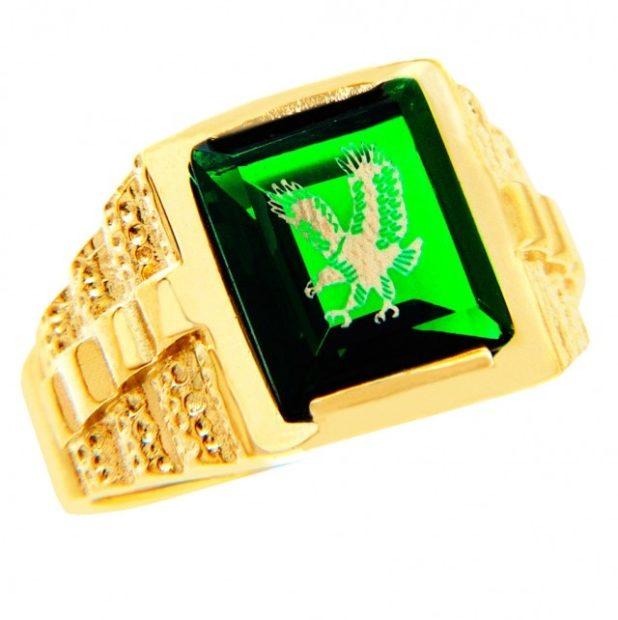 как правильно носить перстень мужчине: золотой с зеленым камнем