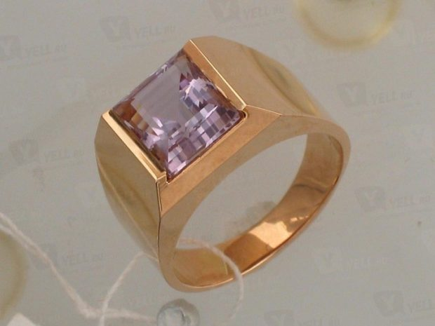 как правильно носить перстень мужчине: золотой с розовым камнем