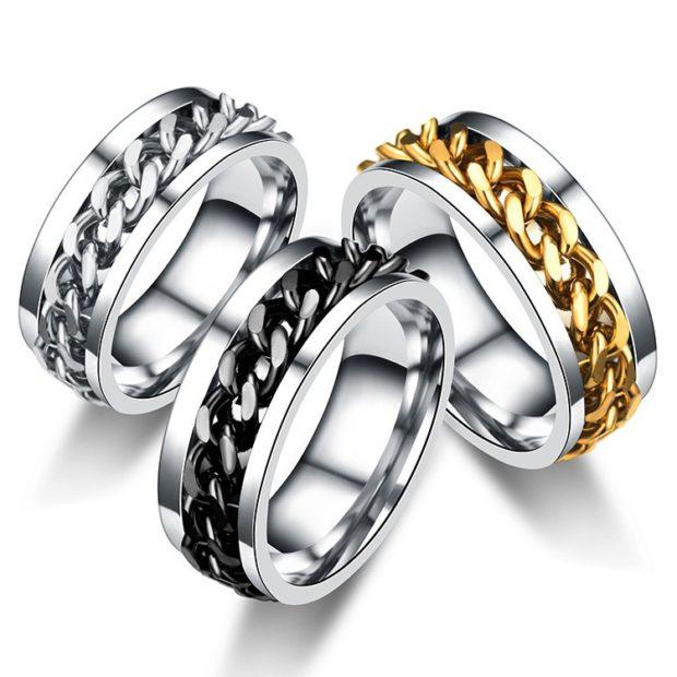 на каком пальце носят перстень мужчины: кольца серебро с цепочками из золота
