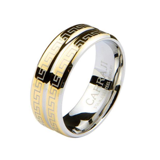 на каком пальце носят перстень мужчины: золотое кольцо с орнаментом