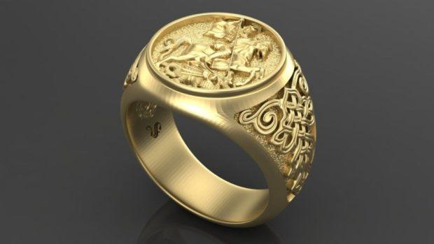 на каком пальце носят перстень мужчины: золотой с узорами