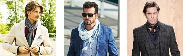 серый шарф белый платок черный тонкий