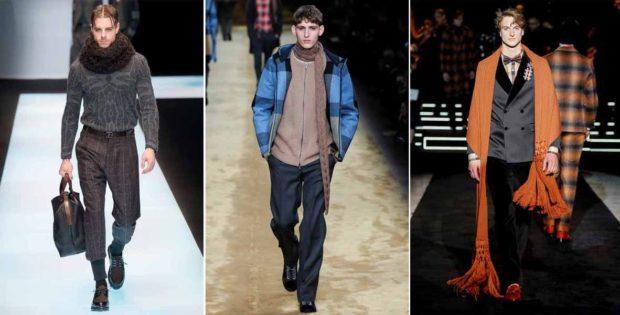 как носить шарф хомут вязанный мужчине