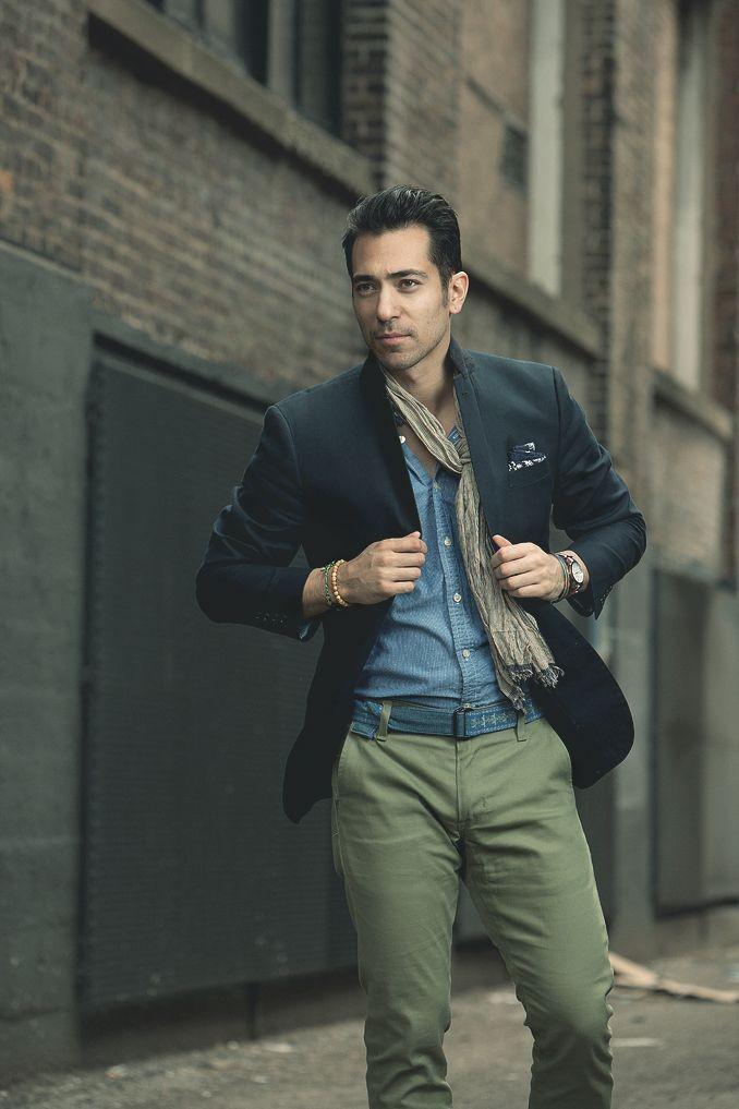 коричневый шарфик тонкий под пиджак