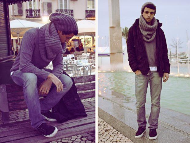 как завязать шарф мужчине на шее