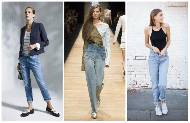 джинсы женские мода 2018-2019: короткие классика высокая талия