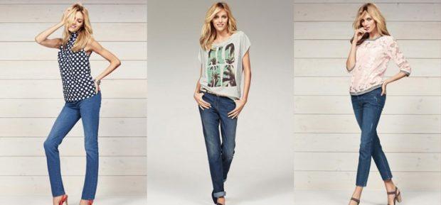 джинсы женские мода 2018-2019: классические светло-синие темные с потертостями