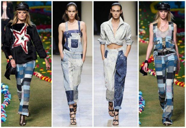 джинсы женские мода 2018-2019: пэчворк из разных кусков
