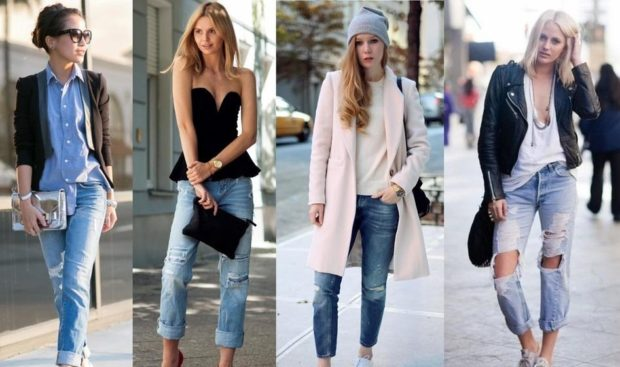 модные женские джинсы 2019-2020: голубые укороченные с отворотом по косточку короткие с разрезами