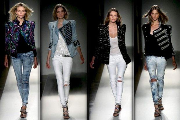 какие джинсы в моде в 2018-2019 женские: дудочки серые белые голубые рваные