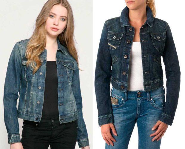 какие джинсы в моде: куртки не в тон