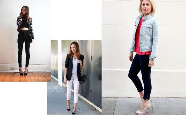 какие джинсы в моде: укороченные черные белые черные