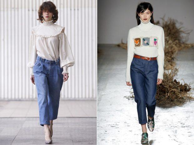 джинсы женские мода 2018-2019: кюлоты