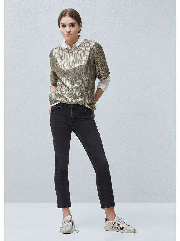 какие джинсы в моде: укороченные черные