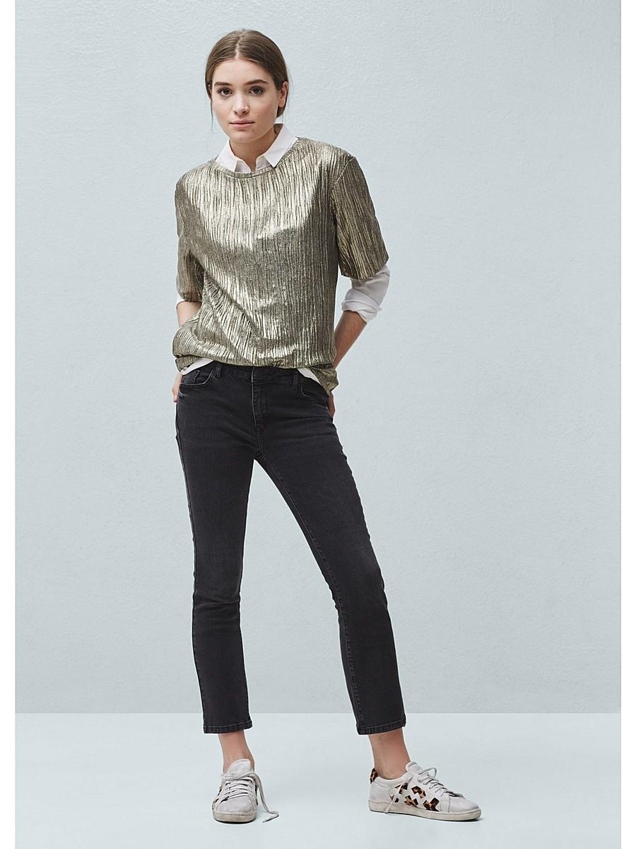 какие джинсы в моде в 2018 женские: укороченные черные
