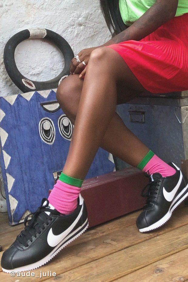 модные женские кеды 2019-2020: черные найк